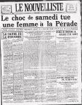 La une du Nouvelliste, 2 mars 1925